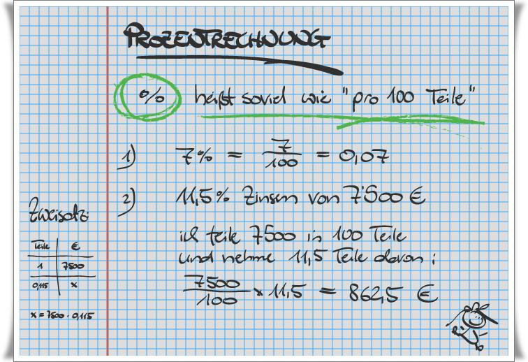 Prozenrechnung Formel