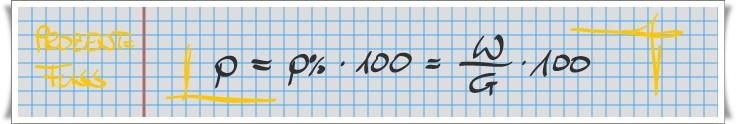 Prozentfuß = p = E / G x 100