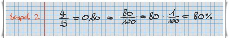 Prozentrechner: Beispiel Bruchrechnung